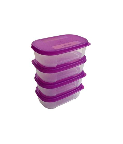 Tupperware Purple Tupperware Purple Refrigerator Container Box Set Of 4 Buy At Best Price In India