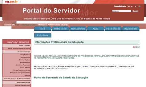 portal do servidor minas gerais portal do servidor mg www portaldoservidor mg gov br