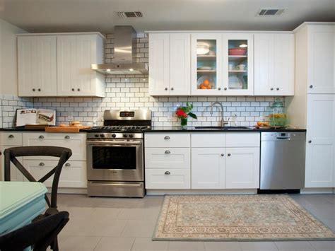 modern white kitchen backsplash photos hgtv