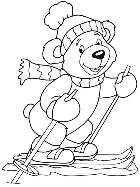 winter bear coloring page nyomtathat 243 kar 225 csonyi sz 237 nezők nlcaf 233