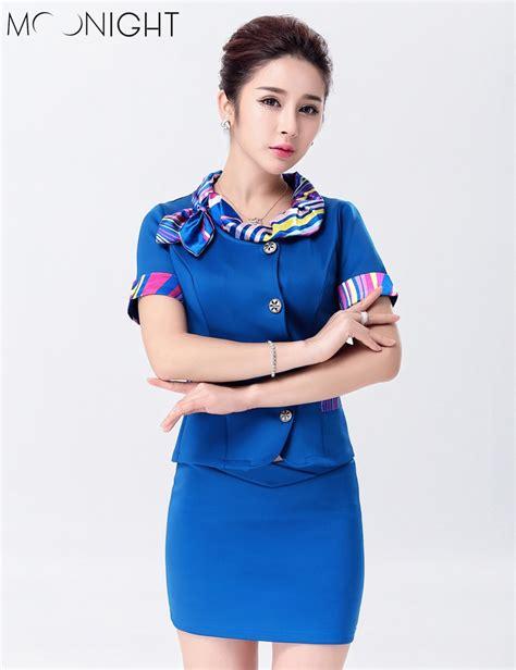 Cho Co Stewardess Pramugari Haloween moonight 3 color stewardess uniforms air hostess flight attendant