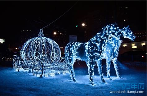 lighted christmas horse and carriage 平安夜图片大全 关于平安夜图片鉴赏 万年历