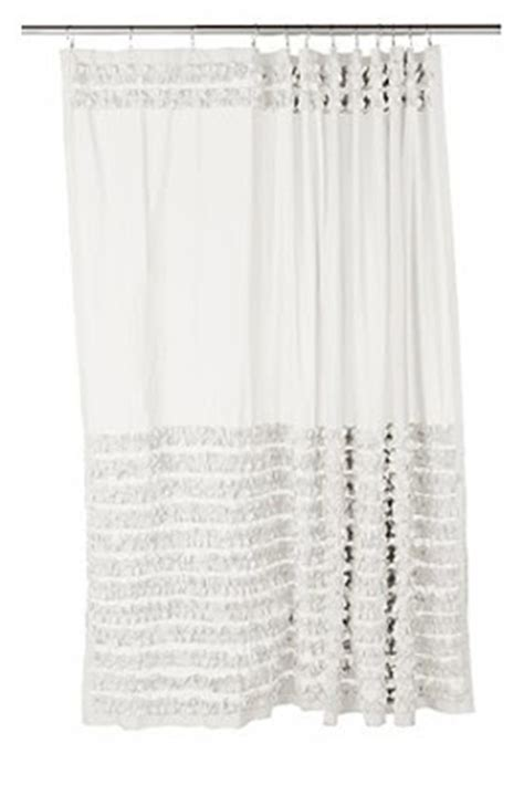 white ruffle shower curtain urban outfitters national sewing month anthropologie inspired shower