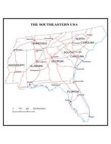 map of south eastern united states u s regional