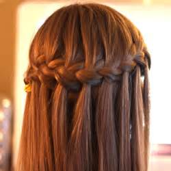 Flower girl fun to wear flower girl hair the waterfall braid flower