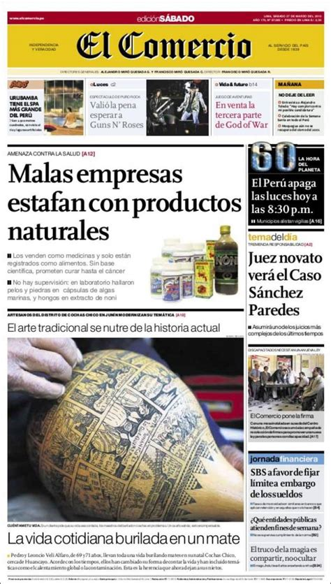 diario el comercio peru newspaper comercio peru newspapers in peru saturday s