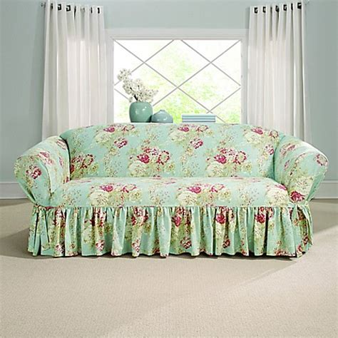 Sure Fit 174 Ballad Bouquet By Waverly Sofa Slipcover Bed Waverly Sofa Slipcovers