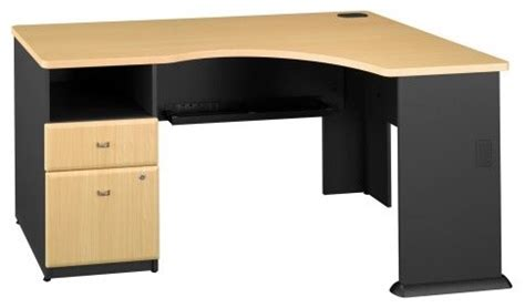 Beech Corner Computer Desk Bush Series A Expandable Corner Computer Desk Beech Contemporary Desks And Hutches By