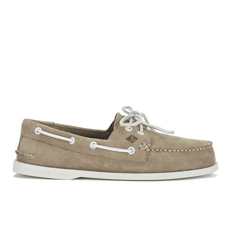 sperry washable boat shoes sperry men s a o 2 eye washable leather boat shoes taupe