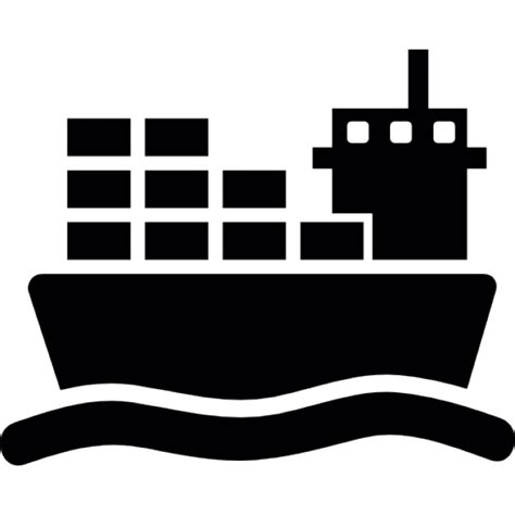 ship icon ship with cargo on sea icons free download