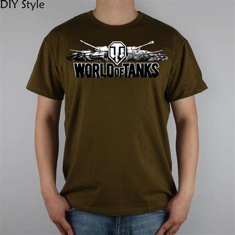 Hazna Top G 02 world of tanks black logo wot t shirt top lycra cotton t shirt new design high quality