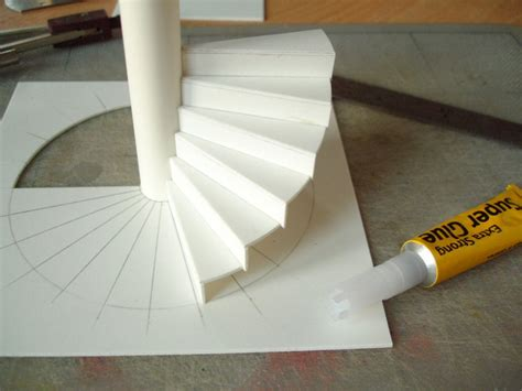 How To Make A 3d Model Out Of Paper - a model spiral staircase davidneat