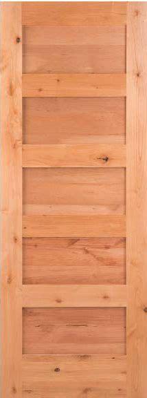 Flat Panel Interior Wood Doors Details About 5 Panel Knotty Alder Flat Panel Mission Shaker Solid Interior Wood Doors