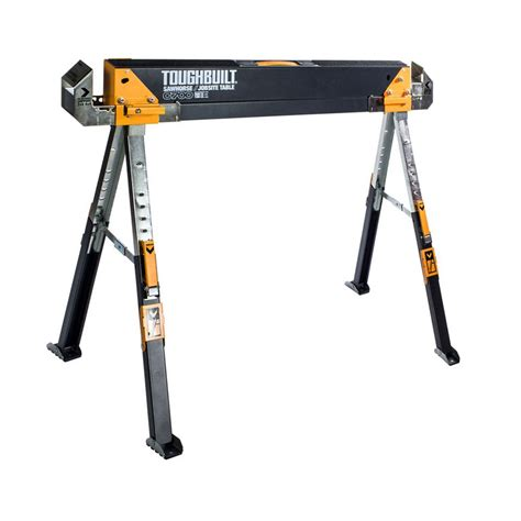 heavy duty metal folding table steel sawhorse table support portable saw folding