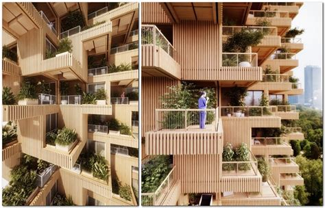 Commercial Bathroom Designs Wooden 18 Storey Housing Estate To Be Built In Toronto