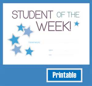 free printable student of the month certificate templates best photos of printable certificates for students