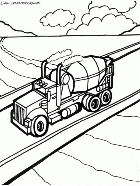Semi Coloring Pages by Semi Truck Coloring Page Az Coloring Pages