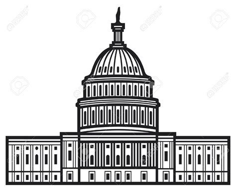 united states capitol building coloring page building clipart us congress pencil and in color