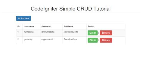 tutorial crud codeigniter pdf codeigniter simple crud tutorial free source code
