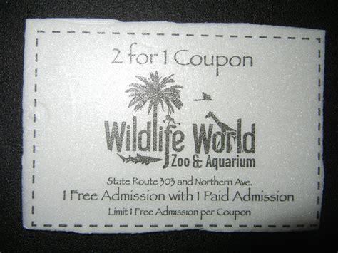 Gift Cards Com Coupon - wildlife world zoo aquarium 2 for 1 admission coupon arizona ebay