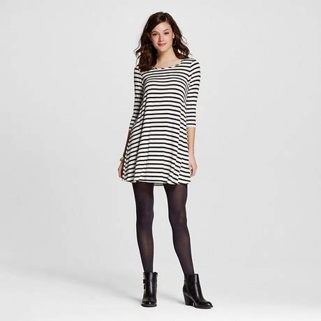 black and white striped l sleeve black and white striped dress