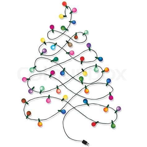 christmas tree garland lights string of christmas vector