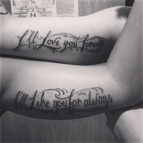 forever and always tattoos for couples quot ill you forever ill like you for always quot