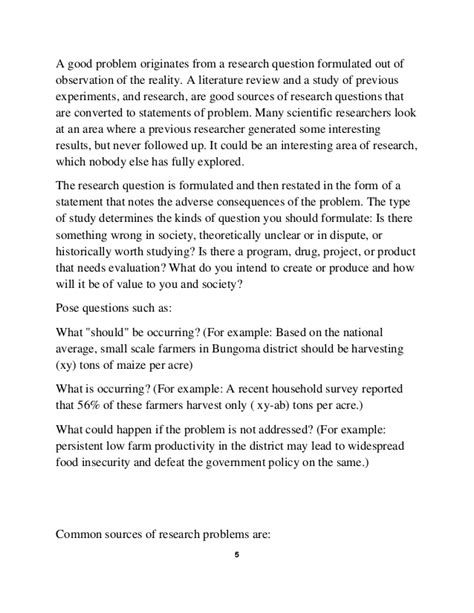 problem statement in a research paper how to write a statement problem