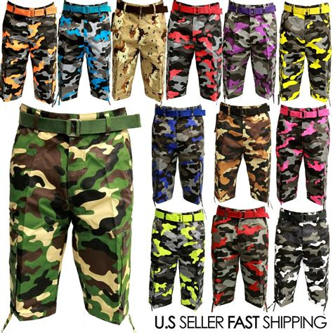camo colors nwt 13 different colors of camo cargo shorts
