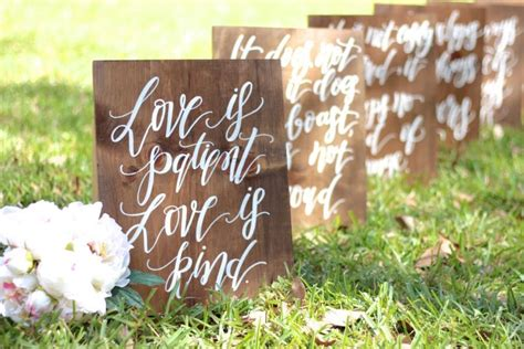 Wedding Aisle Signs by 1 Corinthians 13 Wedding Aisle Signs Is Patient