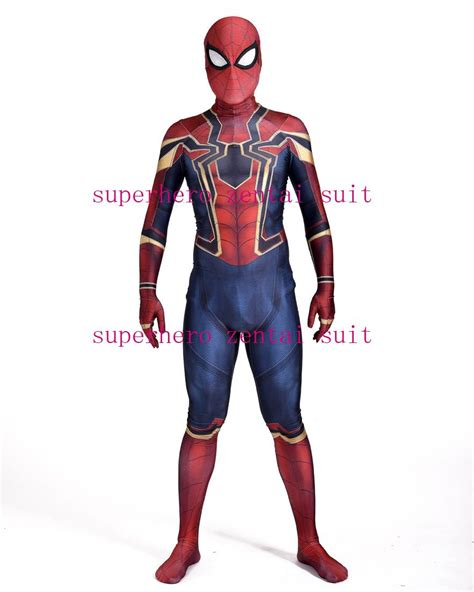 Sale Iron Spandex new iron spider homecoming costume 3d print zentai iron spider