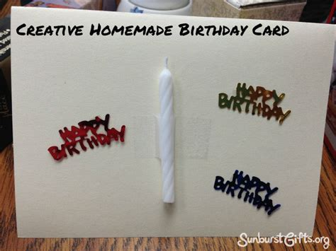 Birthday Gift Cards - creative inexpensive homemade birthday cards thoughtful gifts sunburst