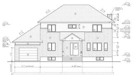 Plan De Facade De Maison Gratuit plan facade maison