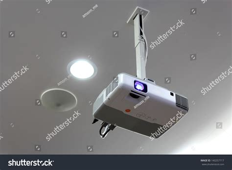 Projector Hang On Ceiling Stock Photo 140257717 Shutterstock Hanging A Projector From Ceiling