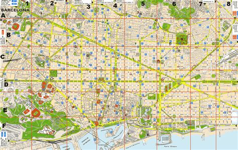 printable map barcelona city centre barcelona map