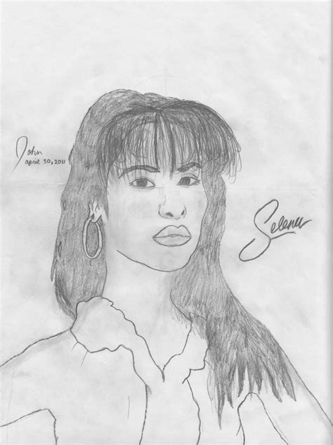 Selena Q Drawing by Selena Quintanilla Perez By Allstepsascend On Deviantart