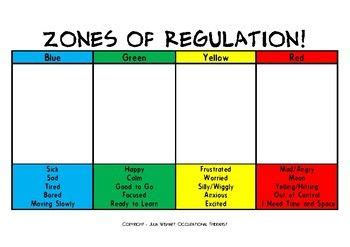 printable zones of regulation 252 best social skills self regulation zones of