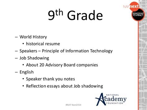 Grade 9 Resume by Scaffolding Your Work Based Learning Program For Grades 9 12