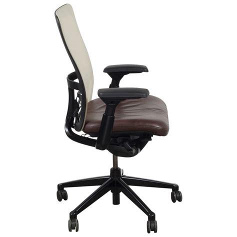 haworth zody task chair haworth zody creme mesh back used task chair brown