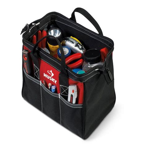 husky 12 in tool bag gp 43683n13 the home depot