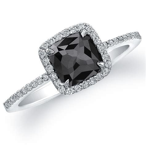 why choose black engagement rings pink