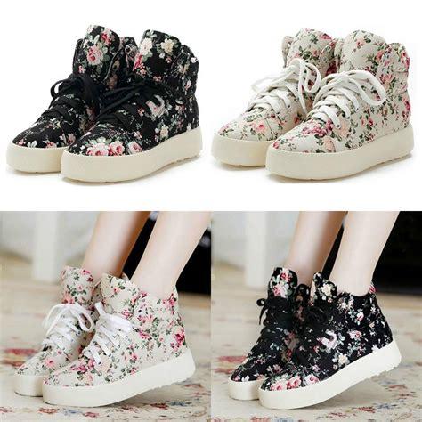 flat floral shoes s flat platform shoes canvas cotton floral flowers