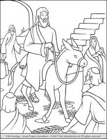 palm sunday coloring page