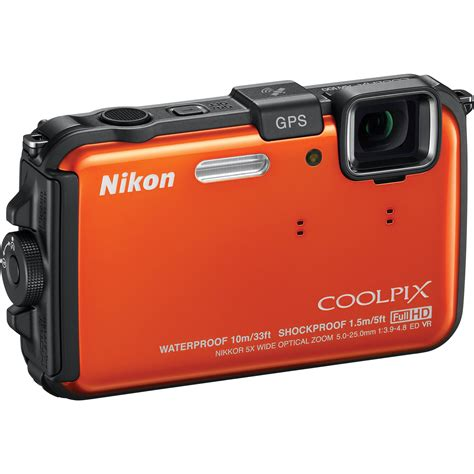 nikon coolpix waterproof nikon coolpix aw100 waterproof digital orange