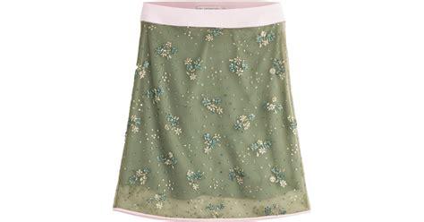 katrantzou glitter pencil skirt green in green lyst