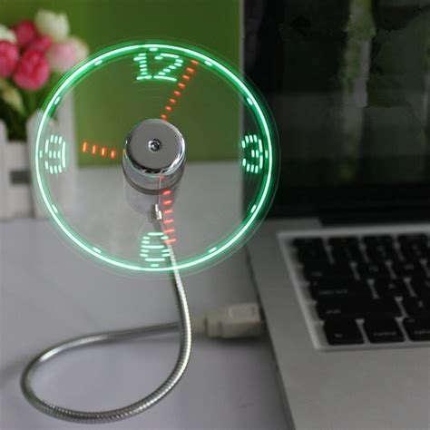 Usb Fan usb led clock fan with real time display function price in