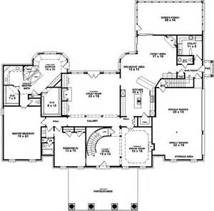 georgian floor plans georgian style house plans 5537 square foot home 2 story 5 bedroom and 4 bath 3 garage