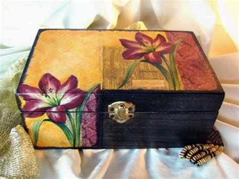 How To Decoupage A Cardboard Box - decoupage box arts crafts and design finds