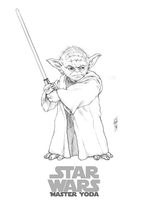 Yoda Drawing Outline by Master Yoda By Thegerjoos On Deviantart