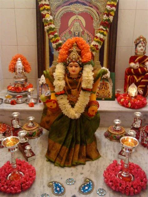 Decoration Of Lakshmi Pooja by Words Thoughts Varamahalakshmi Puja Celebrations